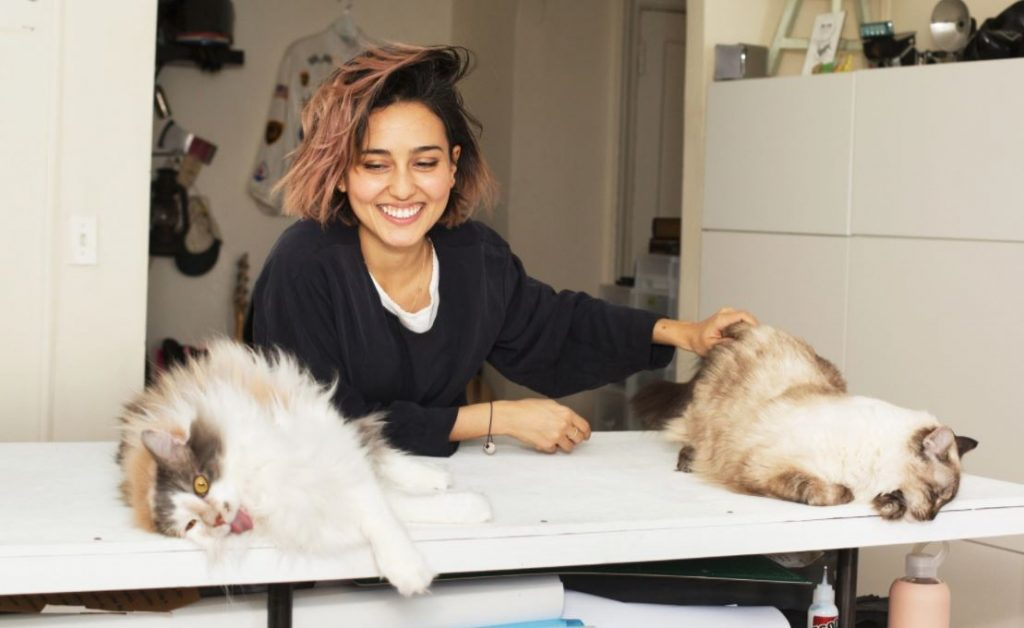 Meet Daniela Gutmann and her cats, Kuki Doh and Moka. You can read about their story here.