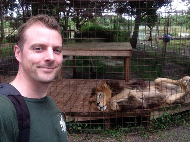 Chris Poole: Cole & Marmalade's Cat Dad with BIG cats!