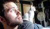 Nathan Kehn and his cat