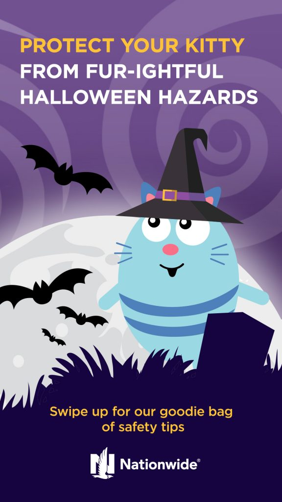Protect your kitty meowlloween ghost
